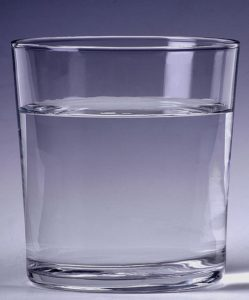 Salt water in a glass
